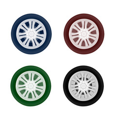 Wheel drive from cars in on white backg vector