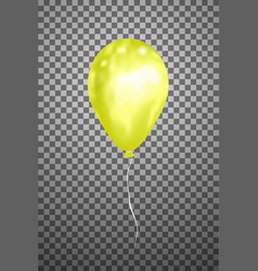 Yellow air balloon eps10 vector