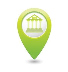 bank icon green pointer vector image vector image