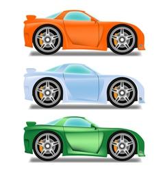 Cartoon racecar vector image