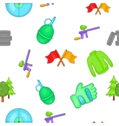 Outfit paintball pattern cartoon style vector image vector image