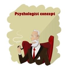 Portrait of practiced profesional elderly cartoon vector