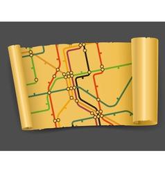vintage metro scheme vector image vector image