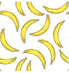 banana seamless pattern endless yellow bananas on vector image