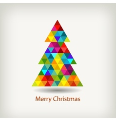 christmas tree in rainbow colors vector image