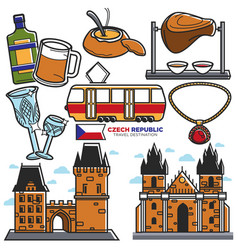 czech travel landmarks and culture famous vector image vector image