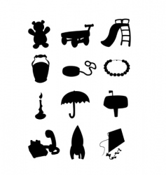 object silhouettes vector image vector image