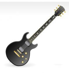 rock guitar design element vector image