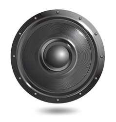 Sound speaker isolated vector image vector image
