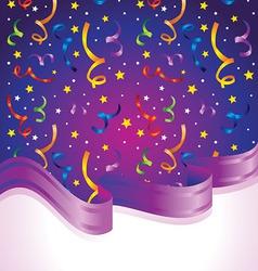 confetti and ribbon vector image vector image