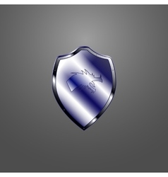 Metallic shield vector