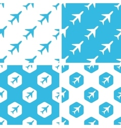 Plane patterns set vector image