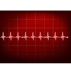 Abstract heart beats cardiogram EPS 10 vector image vector image
