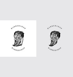 beard letter logo vector image vector image