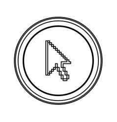 contour emblem mouse cursor icon vector image vector image