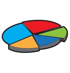 data pie chart vector image vector image