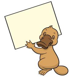 funny happy cartoon platypus or duckbill vector image vector image