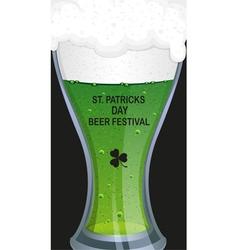 Glass of green beer vector image