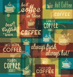 Retro Coffee Badges and Labels Collection vector image