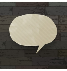 speech bubble on wooden texture vector image vector image