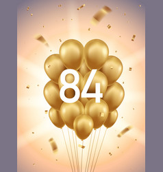 84th year anniversary background vector image