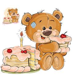 a brown teddy bear sweet vector image