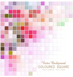 abstract background with colored squares vector image