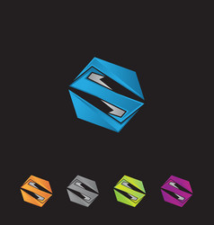 abstract geometric logo s vector image