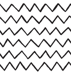 Abstract hand drawn zig zag lines seamless vector image