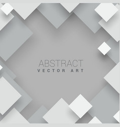 abstract square background white business p vector image
