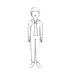 adult man avatar vector image