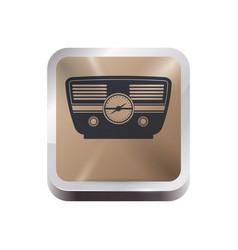 antique radio stereo vector image