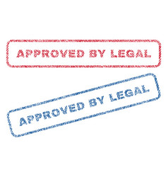 Approved by legal textile stamps vector