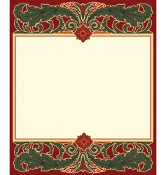arts and crafts frame vector image