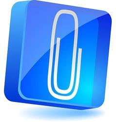 Attach icon vector
