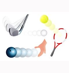 Ball kick set vector image