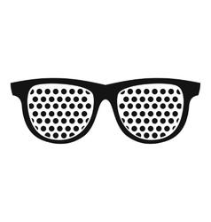 Black pinhole glasses icon simple style vector