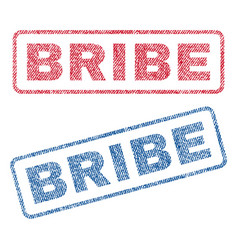 bribe textile stamps vector image