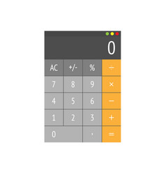 calculator in flat design on a white background vector image
