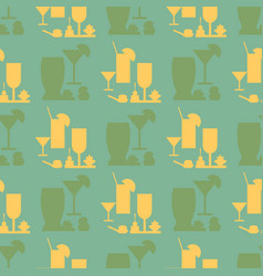 catering glassware flat seamless pattern vector image