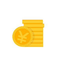 Chinese yuan coins icon vector