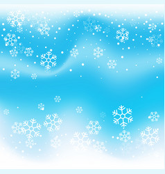 Christmas winter blue background vector