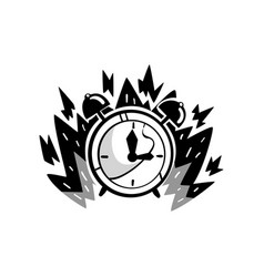Clock in a fire deadline punctuality time vector