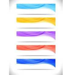 Collection of bright abstract web banners vector image