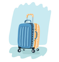 color plastic travel bag vector image