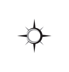 Compass abstract icon graphic design template vector