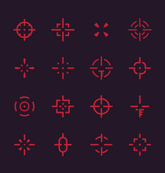 Crosshairs set elements for interfaces vector