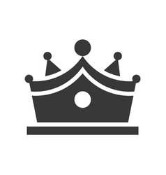 crown with gems jewelry icon glyph style vector image