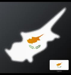 Cyprus halftone map vector image
