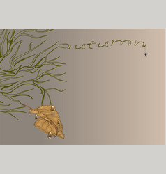 Dead branch and leaf vector